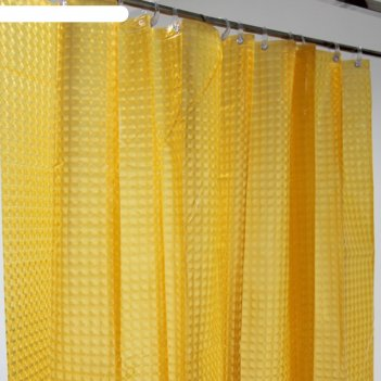 Штора для ванной 180х200 см, la vita 3d, a023-6000 оранжевый