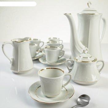 Сервиз чайный на 6 персон камелия, 15 предметов