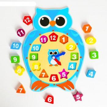 Детские развивающие часы сова 30х22,5х2,3 см