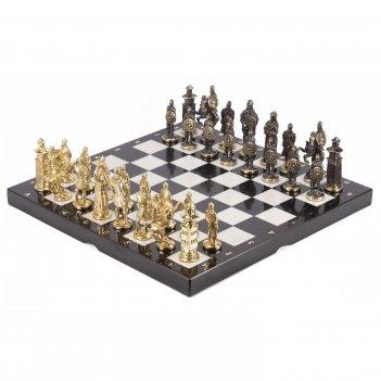 Шахматы богатыри мрамор змеевик бронза 400х400 мм 14 кг