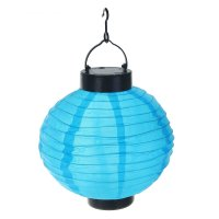 Фонарь садовый на солнечной батарее фонарик синий 23 х 20 х 20 см, 1 led,