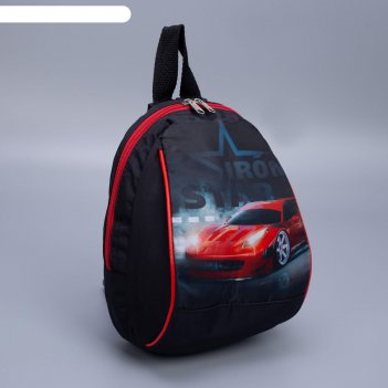 Рюкзак тачка, тропики, 20*13*26, отд на молнии, черный