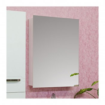 Шкаф-зеркало анкона 60 белый глянец, левый