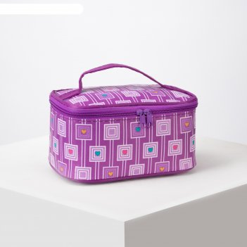 Косметичка-сумочка, отдел на молнии, с зеркалом, цвет сиреневый