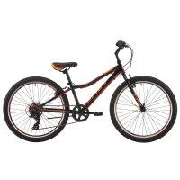 Велосипед 24 pride brave 7, 2018, цвет черный/оранжевый/красный