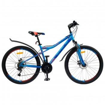 Велосипед 26 stels navigator-510 md, v030, цвет синий/красный, размер 16