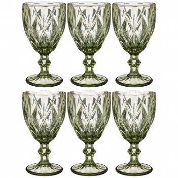 Набор бокалов для вина ромбо 6шт. серия muza color 320мл. / в=17 см. (кор=