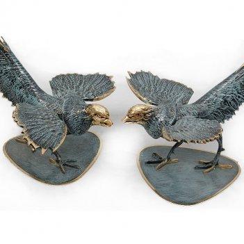 Статуэтка из бронзы фазаны пара