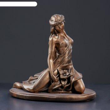 Фигура девушка весна 31х20х33см, бронза
