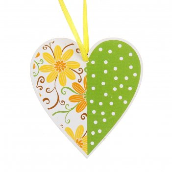 Подвеска декор сердце цветы