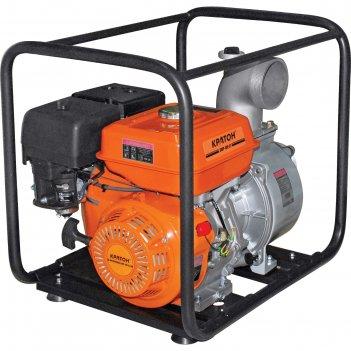 Мотопомпа кратон gwp-100-02h, бензиновая, 5 л.с., для чистой воды, d=100 м