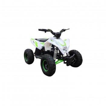 Детский квадроцикл бензиновый motax gekkon 70 cc, бело-зеленый