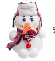 Тк-529 игрушка лоскутная снеговик бол.