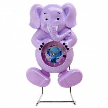 Часы настольные (с маятником) слон 16*6,5*28,5см. (4вида) (час