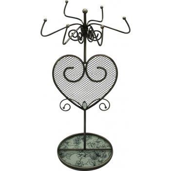 """Подставка для украшений  jardin dete  """"эских"""", сталь, стекло, 14"""