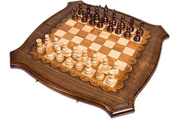 Шахматы + нарды резные 60, ohanyan 61х61см