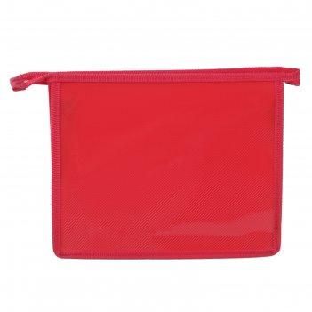 Папка для тетрадей а5 молния сверху красная