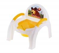 Горшок-стульчик детский маша и медведь, цвет желтый