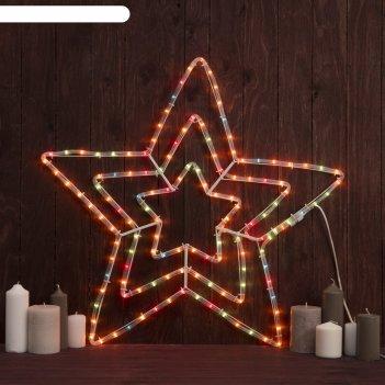 Фигура дюралайт звезда 3 уровня 56х56 см, лампы, 220v