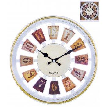 Часы настенные круглые home art «рулетка светлый» 30,5 см