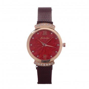 Часы наручные женские juxiaoshou d=3.3 см, ремешок на магните, микс
