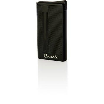 Зажигалка caseti газовая турбо, ветрозащитная,  цвет - черный,