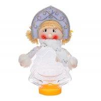 Подарочная упаковка снегурочка с шарфиком, вместимость 320 гр.