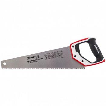 Ножовка по дереву, 400 мм, каленый зуб 3d, 7-8 tpi, трехкомпонентная рукоя