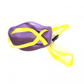 Санки-ледянки с ручкой-ремнем, привязываются к ребёнку, l-33 фиолетовые