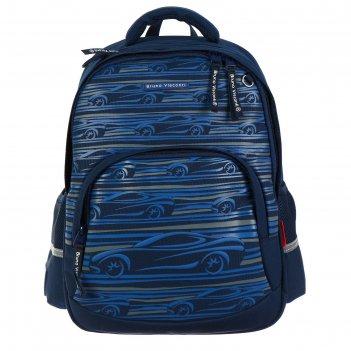 Рюкзак школьный bruno visconti, 40 х 30 х 19 см, эргономичная спинка, «спо