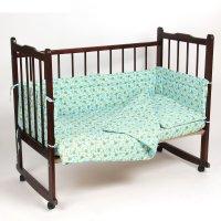 Комплект в кроватку 6 предмета малышок голубой 10606