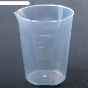 Мерный стакан, 500 мл, цвет прозрачный