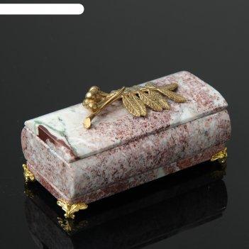 Шкатулка рябинка, со съемной крышкой, 14,5х7,5х8 см, креноид