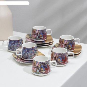 Сервиз кофейный 12 пред галерея 6 чашек 80 мл, 6 блюдец 10,5 см