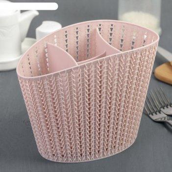 Сушилка для столовых приборов вязание, цвет чайная роза