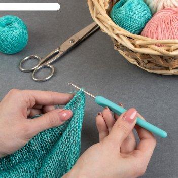 Крючок для вязания, d = 3 мм, 14 см, цвет серый