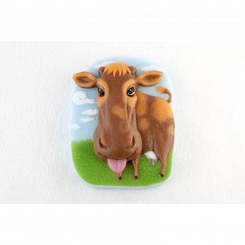 Силиконовая форма корова на лугу