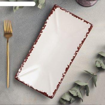 Блюдо для суши 27,5x14 см, h 4 см antica perla