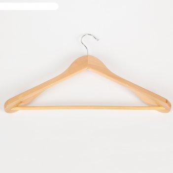 Вешалка-плечики с перекладиной для верхней одежды, размер 48-50, цвет свет