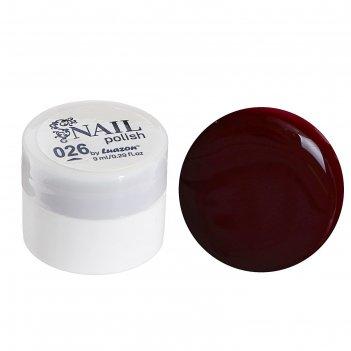 Гель-краска для ногтей 3-х фазный, 8мл, 26, цвет вишневый
