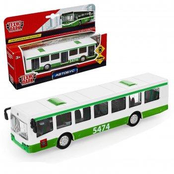 Машина металлическая автобус рейсовый инерционная, 16,5 см sb-16-65-bus-wb