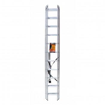 Лестница вихрь ла 3х11, алюминиевая, трехсекционная, рабочая высота 7.09 м