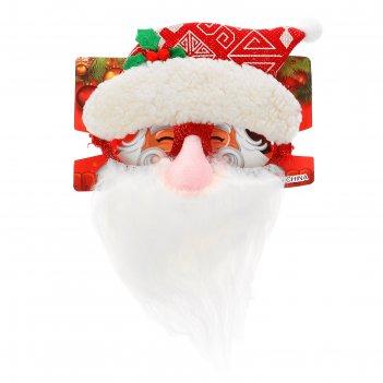 Карнавальные очки дедушка мороз
