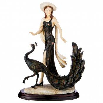Статуэтка дама с павлином 26.5*18*38 см (кор=2шт.)