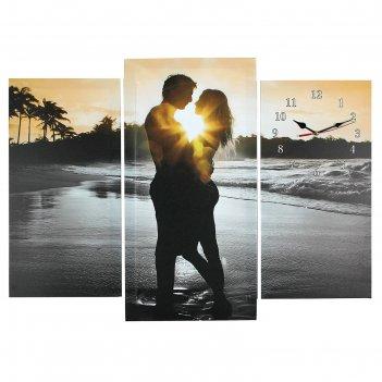 Часы настенные модульные «влюблённая пара», 60 x 80 см