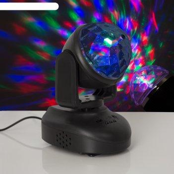 Световой прибор хрустальный вращающийся шар, d=8.5 см с музыкой, 12v