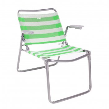Кресло-шезлонг складное 730x570x640 мм, зеленый к1