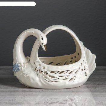 Ваза для конфет лебедь камелия микс