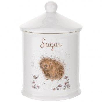 Банка для сахара с крышкой royal worcester забавная фауна 14,5см