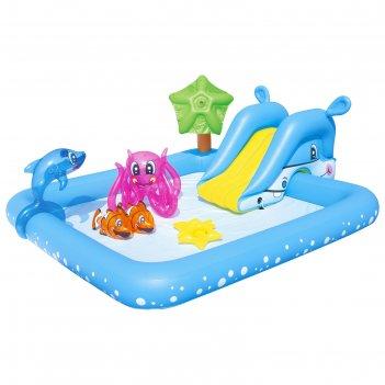 Игровой бассейн фантастический аквариум 239х206х86 см, 308 л + игрушки